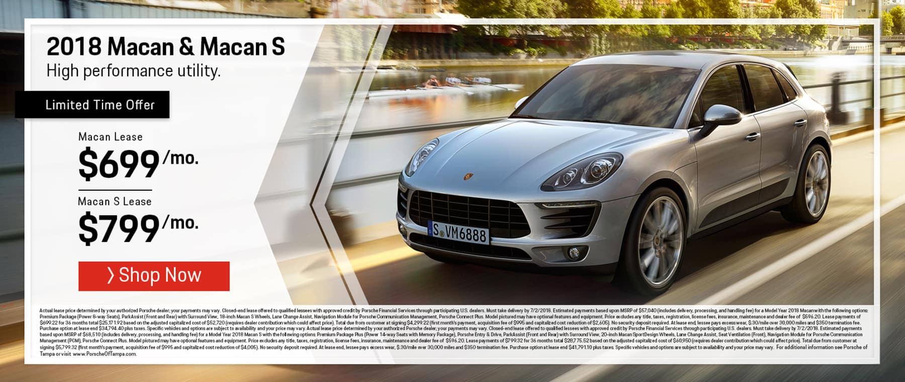 Porsche June Macan Offer