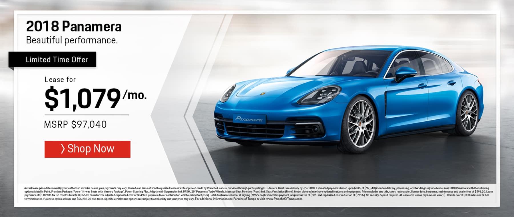 Porsche June Panamera Offer