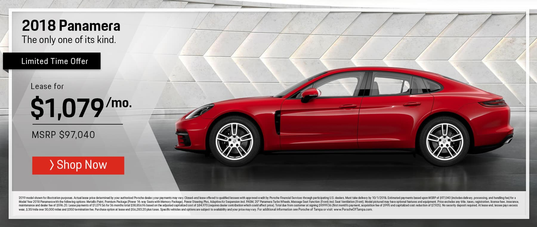 2018 Panamera August Lease Offer