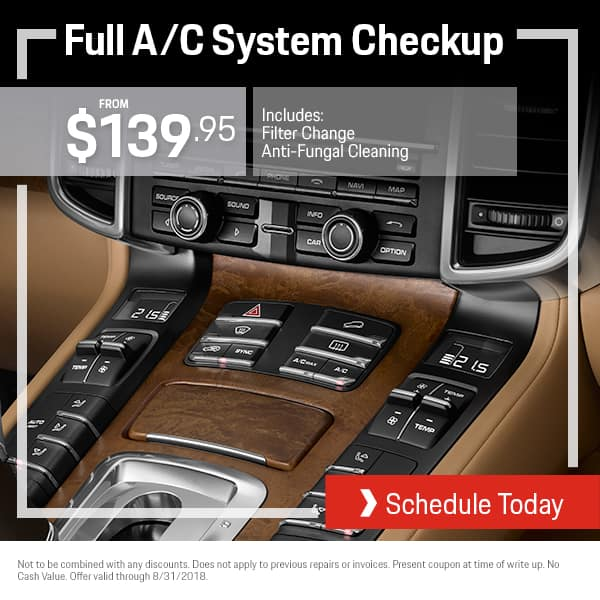August Porsche A/C System Checkup