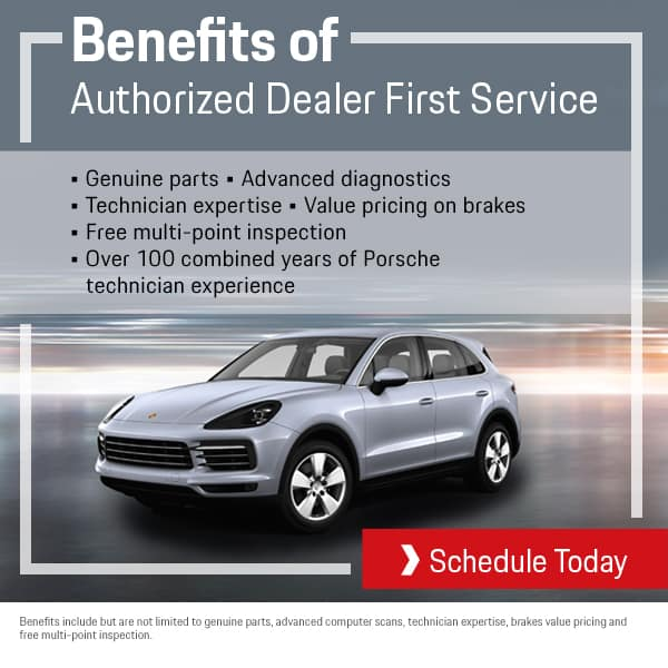 August Porsche First Service Benefits