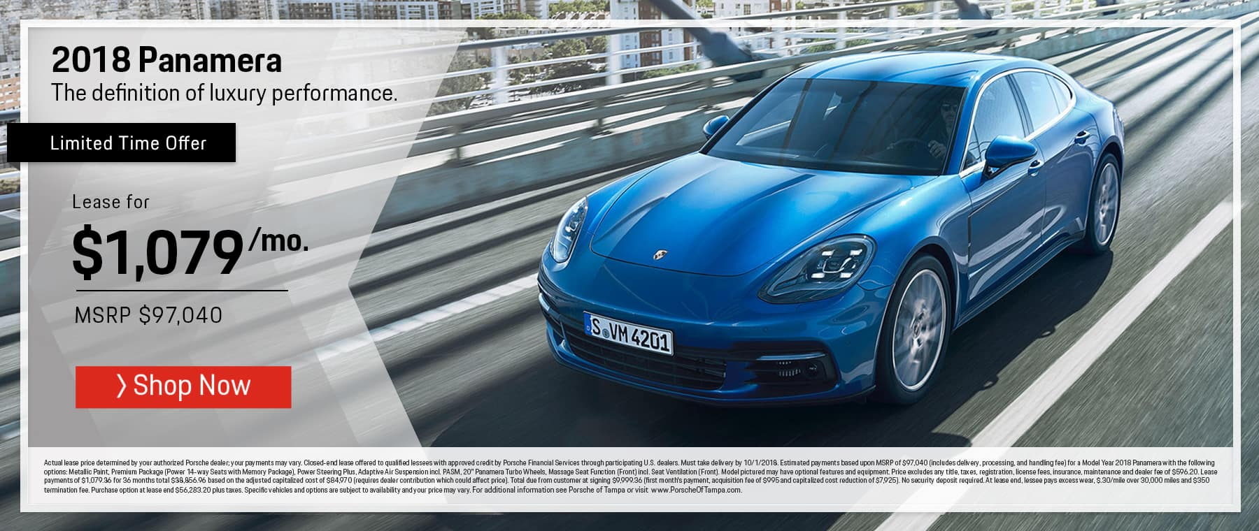 2018 Panamera Lease Offer