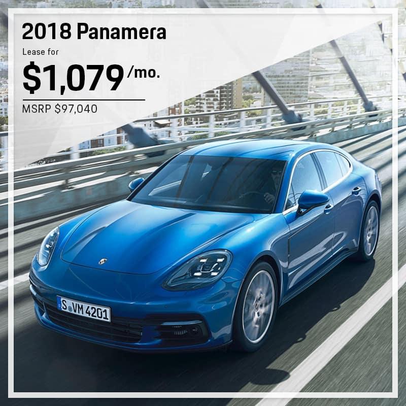 2018 Porsche Panamera Lease Offer