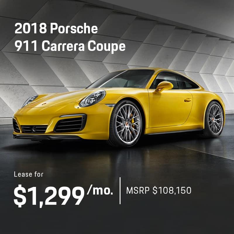2018 911 Carrera Lease Offer