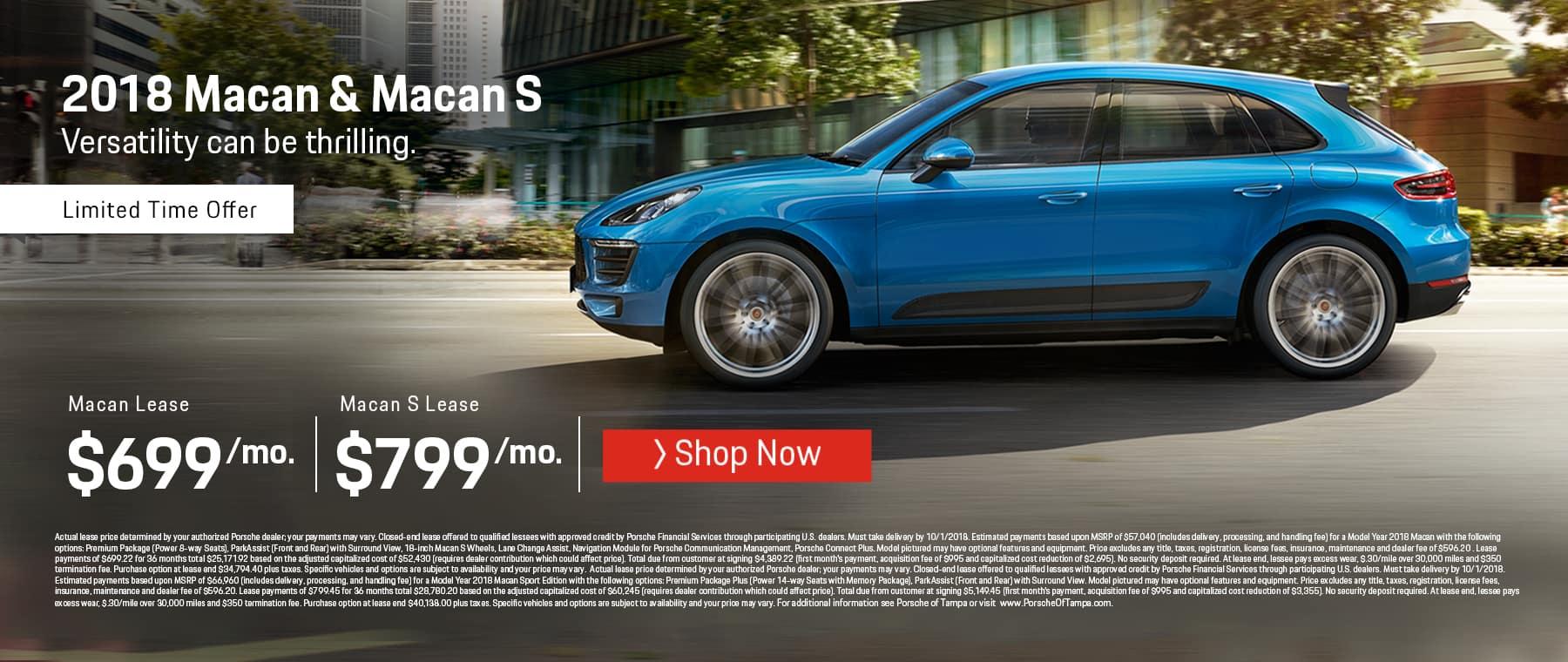 Porsche Macan Lease Offer