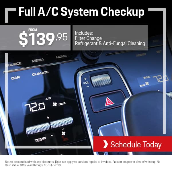Porsche A/C System Checkup