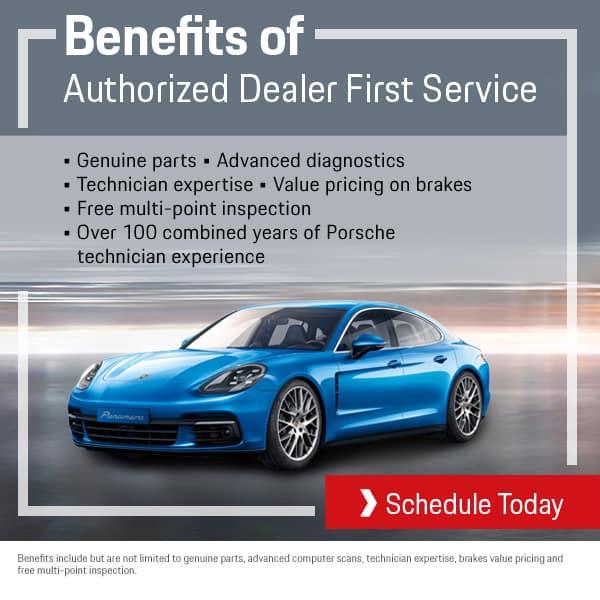 Porsche Authorized Dealer First Service