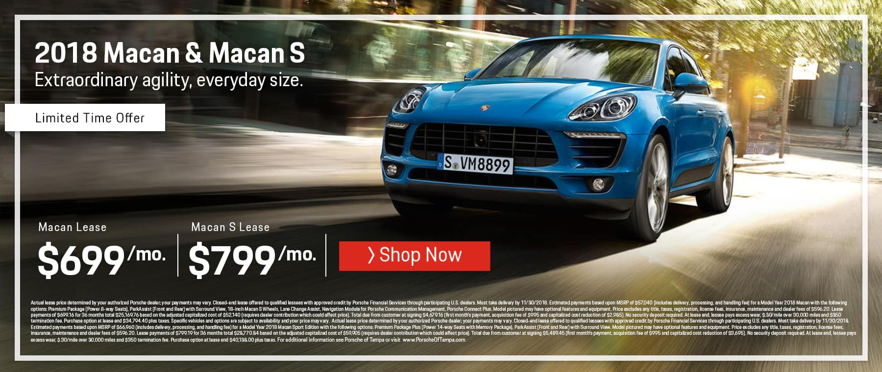 October Porsche Macan Lease Offer