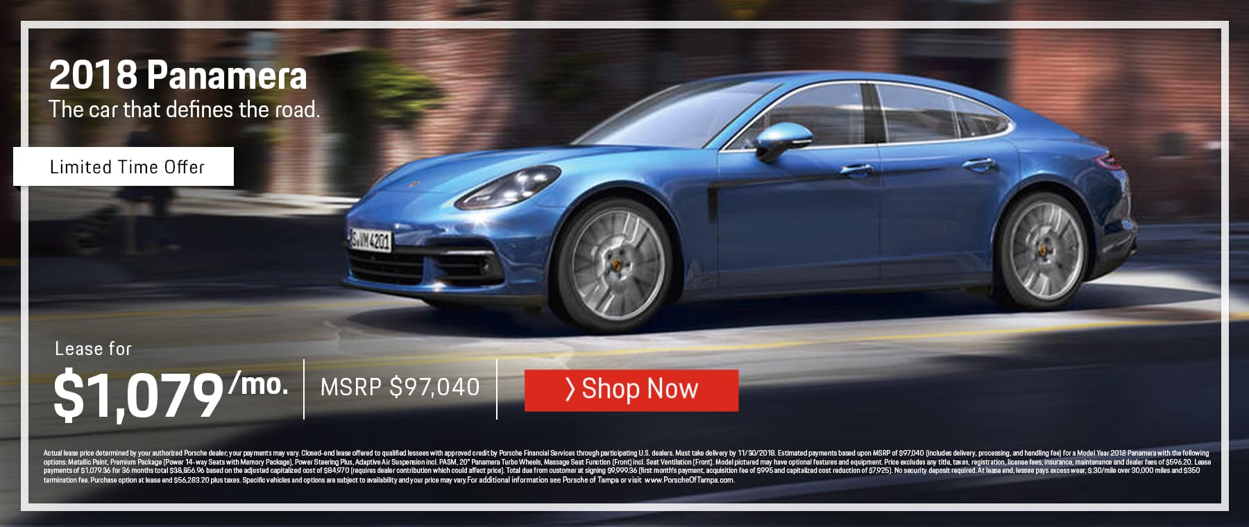 October Porsche Panamera Lease Offer