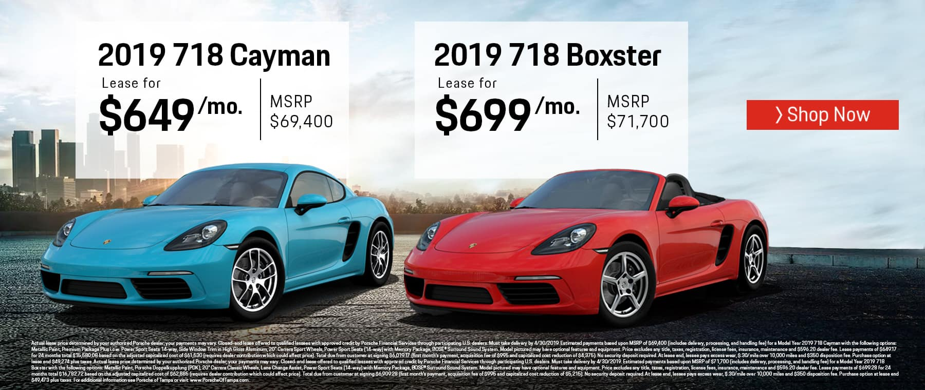 Porsche Cayman and Boxster