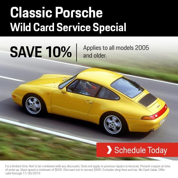 Porsche Wild Card Service Special