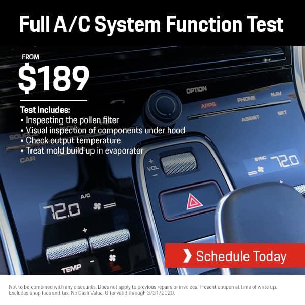 Porsche A/C System Check