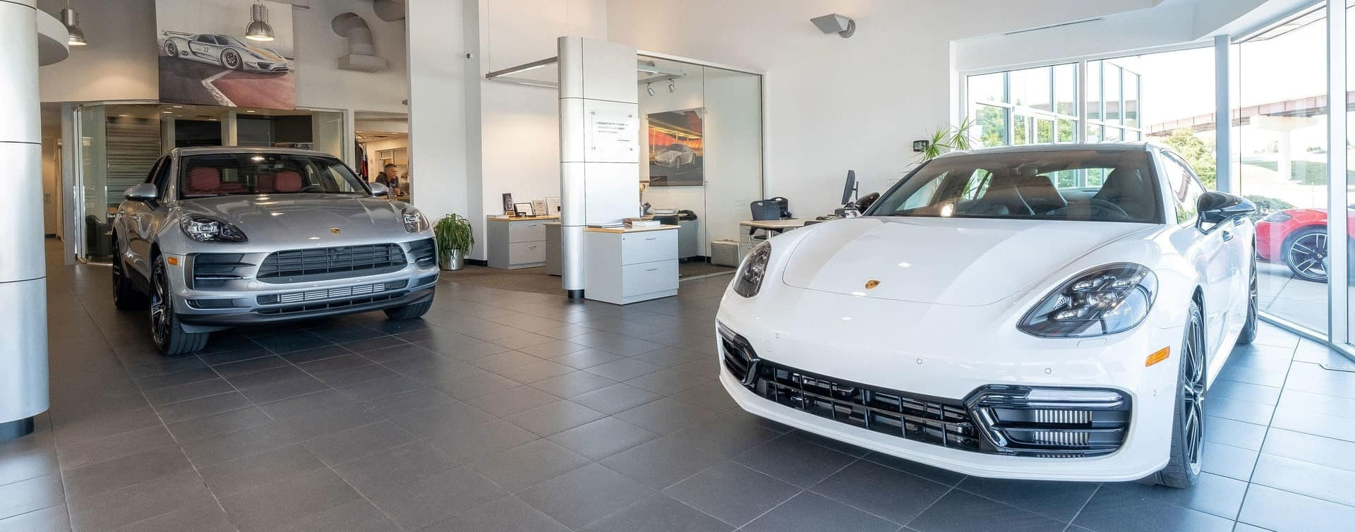 used and certified pre-owned Porsches inside the Tulsa dealership