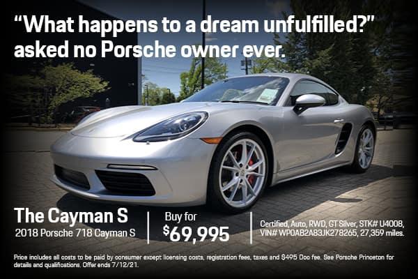 2018 718 Cayman S