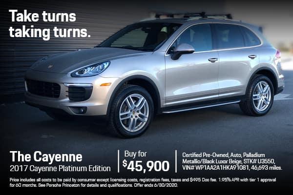 2017 Cayenne $45,900
