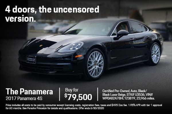2017 Panamera 4S $79,500