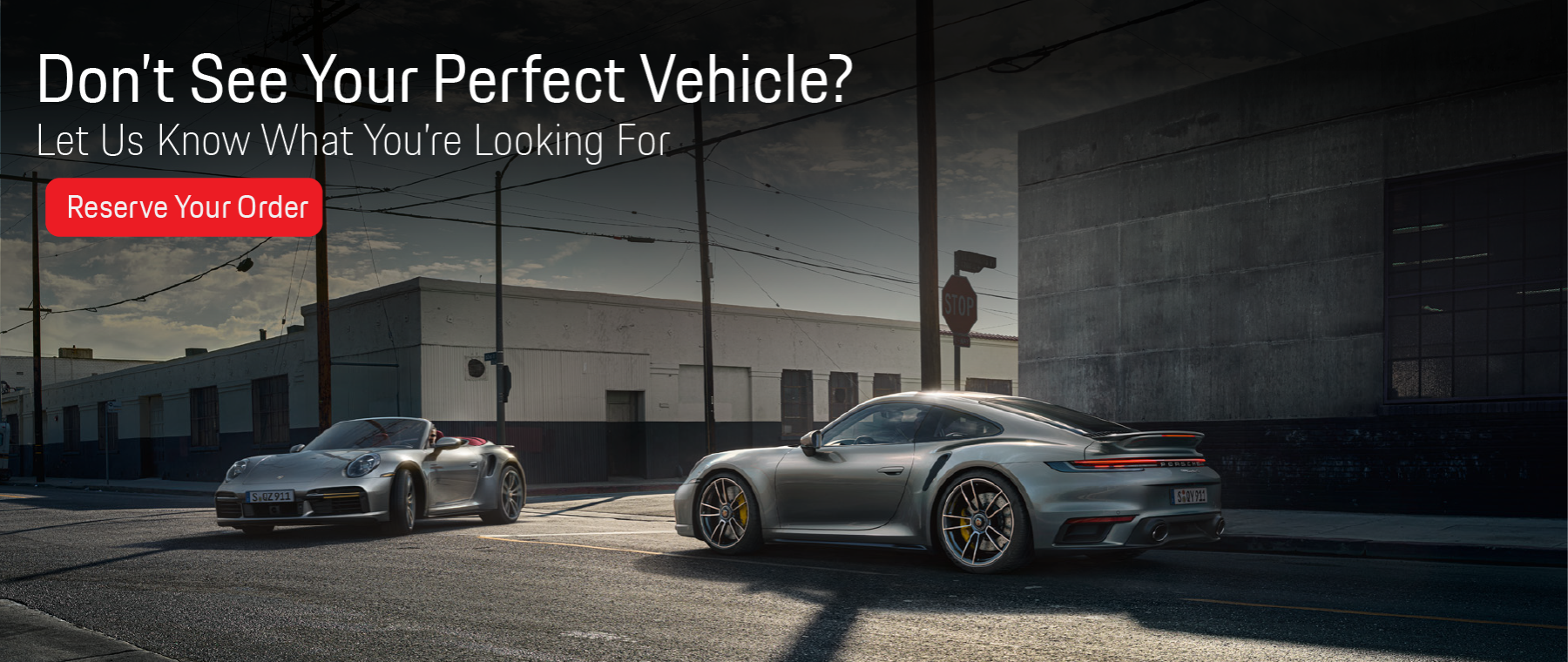Don't See Your Perfect Vehicle Banner 1800×760