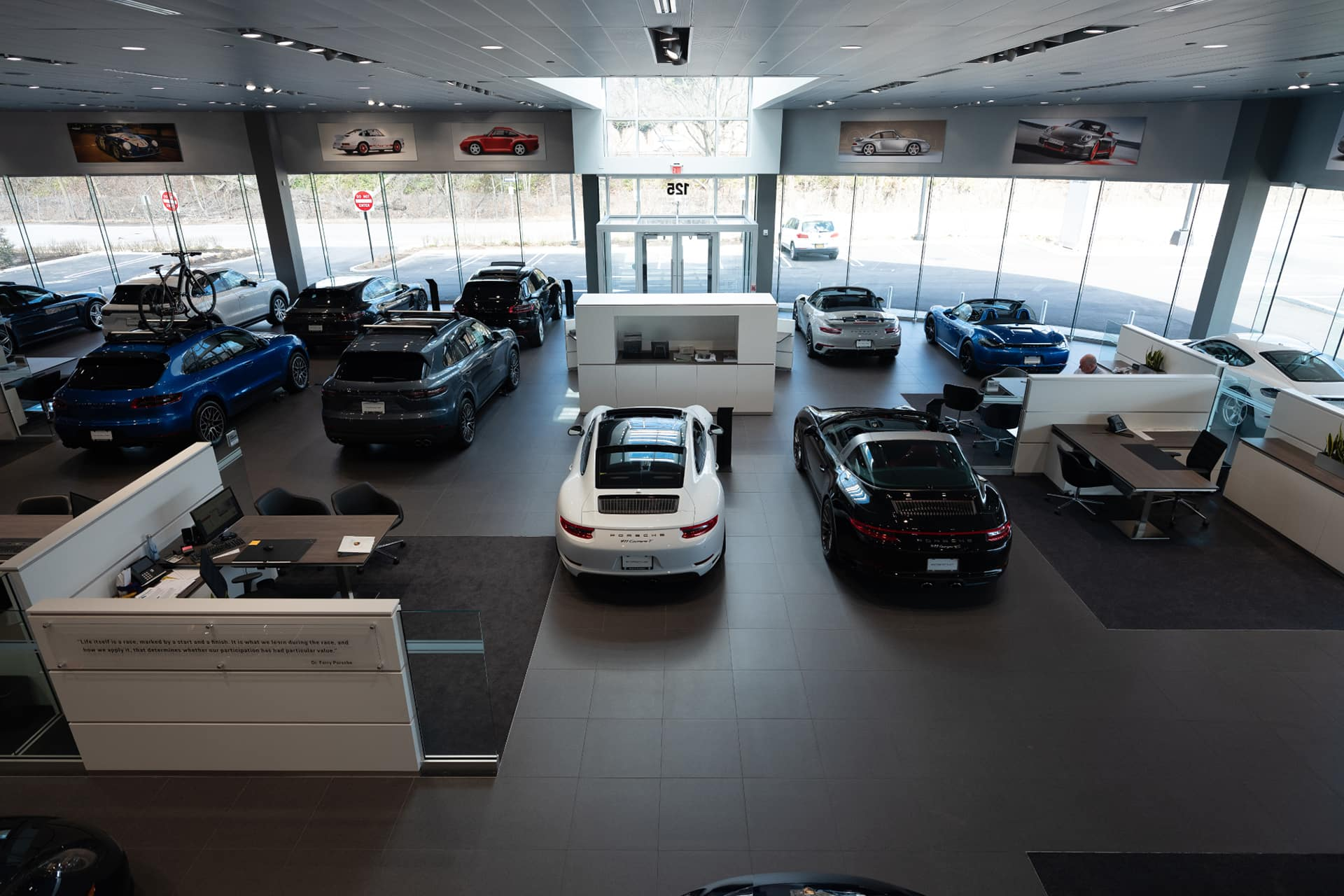 Top view dealership