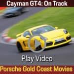 Porsche Cayman GT4 on track