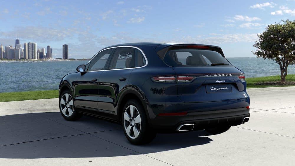 2020 Porsche Cayenne Moonlight Blue Metallic
