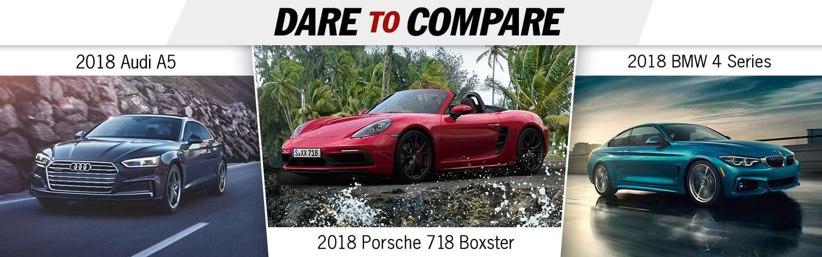 2018 Porsche 718 Boxster vs. Audi A5 vs. BMW 4 Series