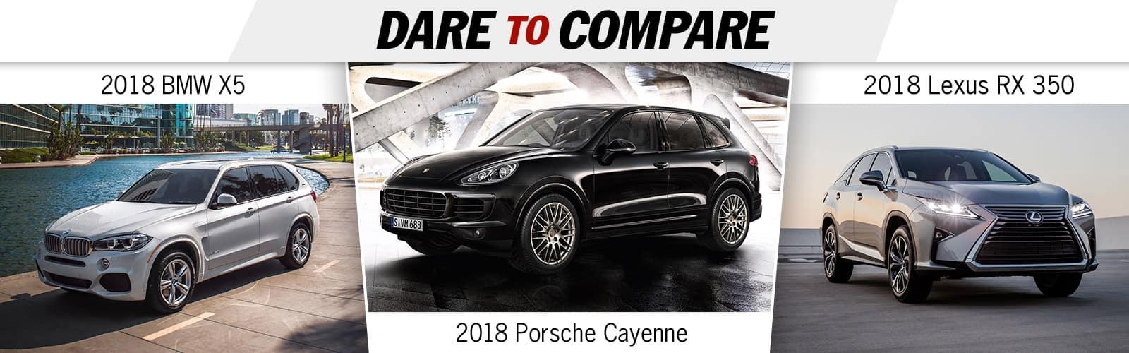 2018 Cayenne Vs Bmw Vs Lexus Porsche Spokane Spokane Wa