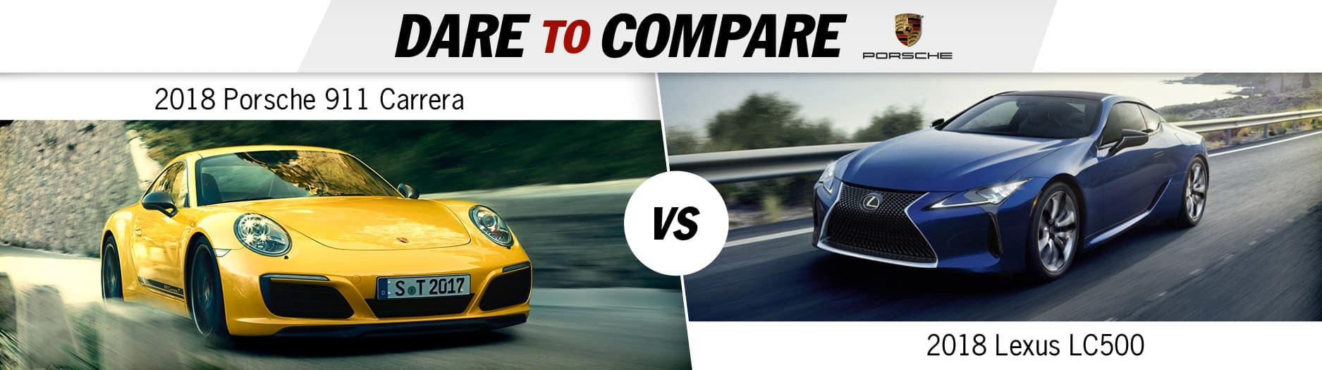 2018 Porsche 911 Carrera vs. Lexus LC500