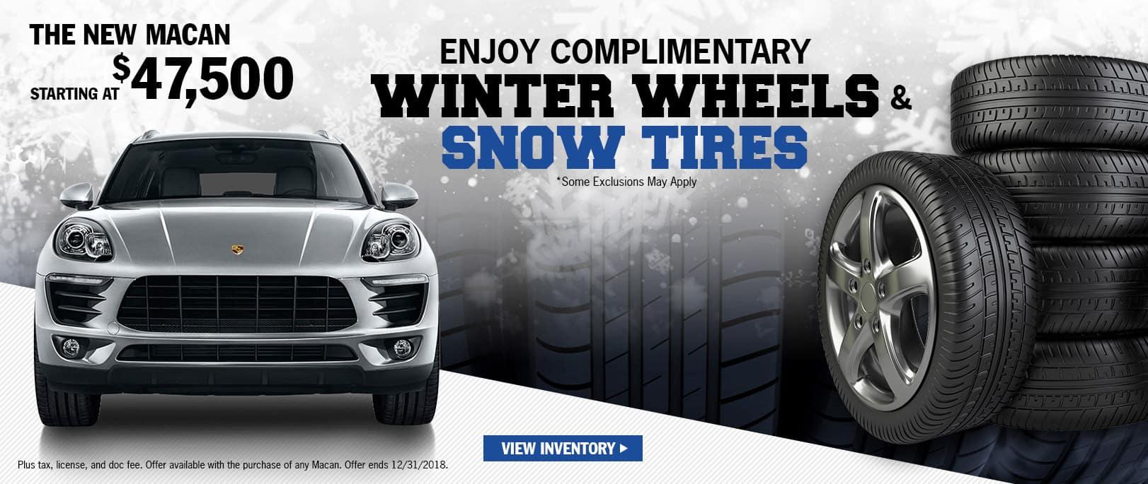 Macan wheel/tire Offer