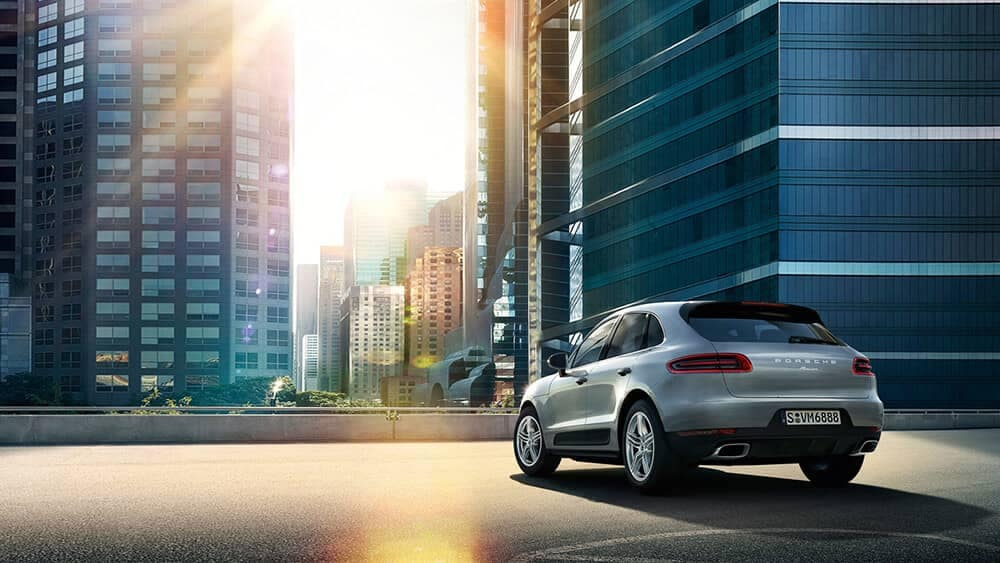 2019 Porsche Macan parked in the city