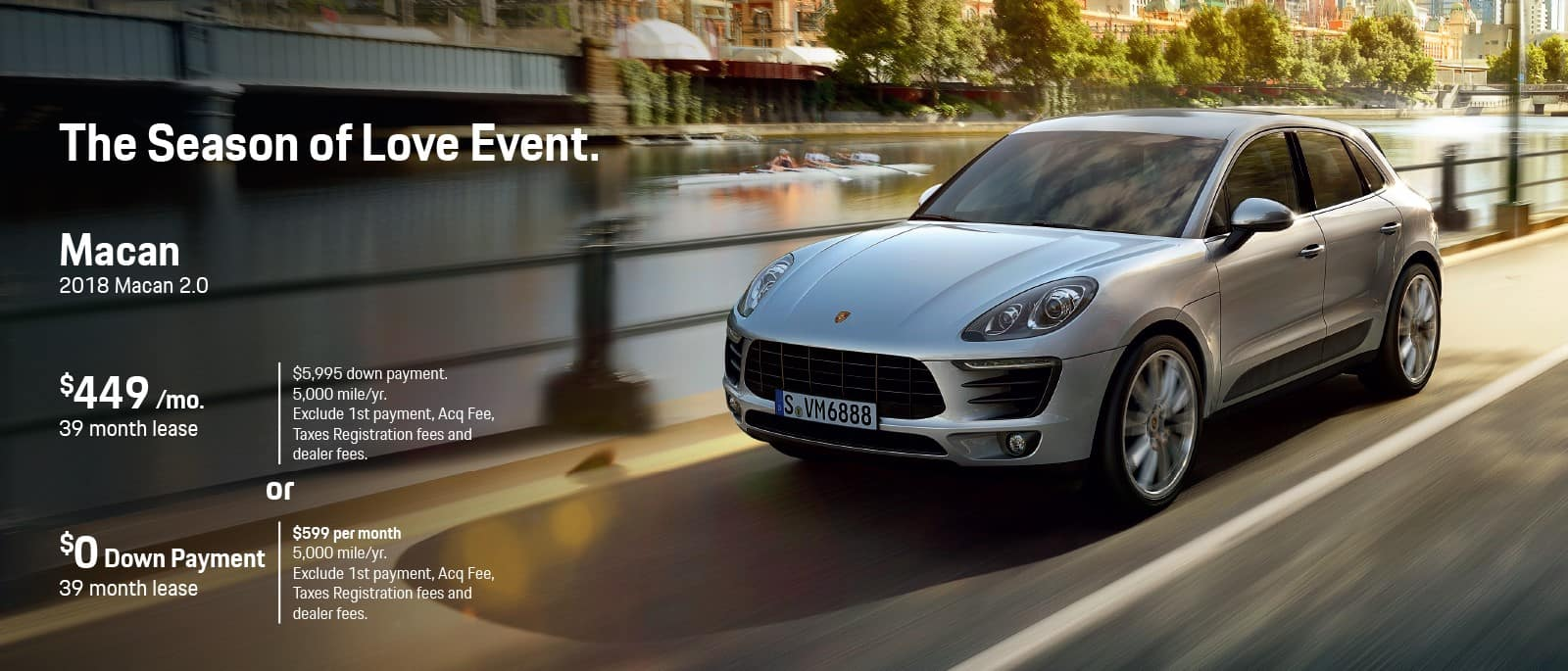 Porsche Macan Season Of Love Sale
