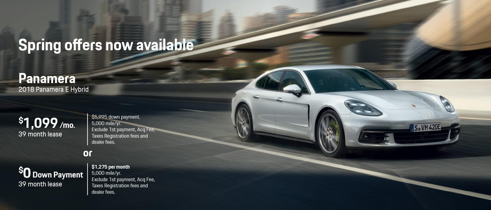 2018 Panamera Spring Offer