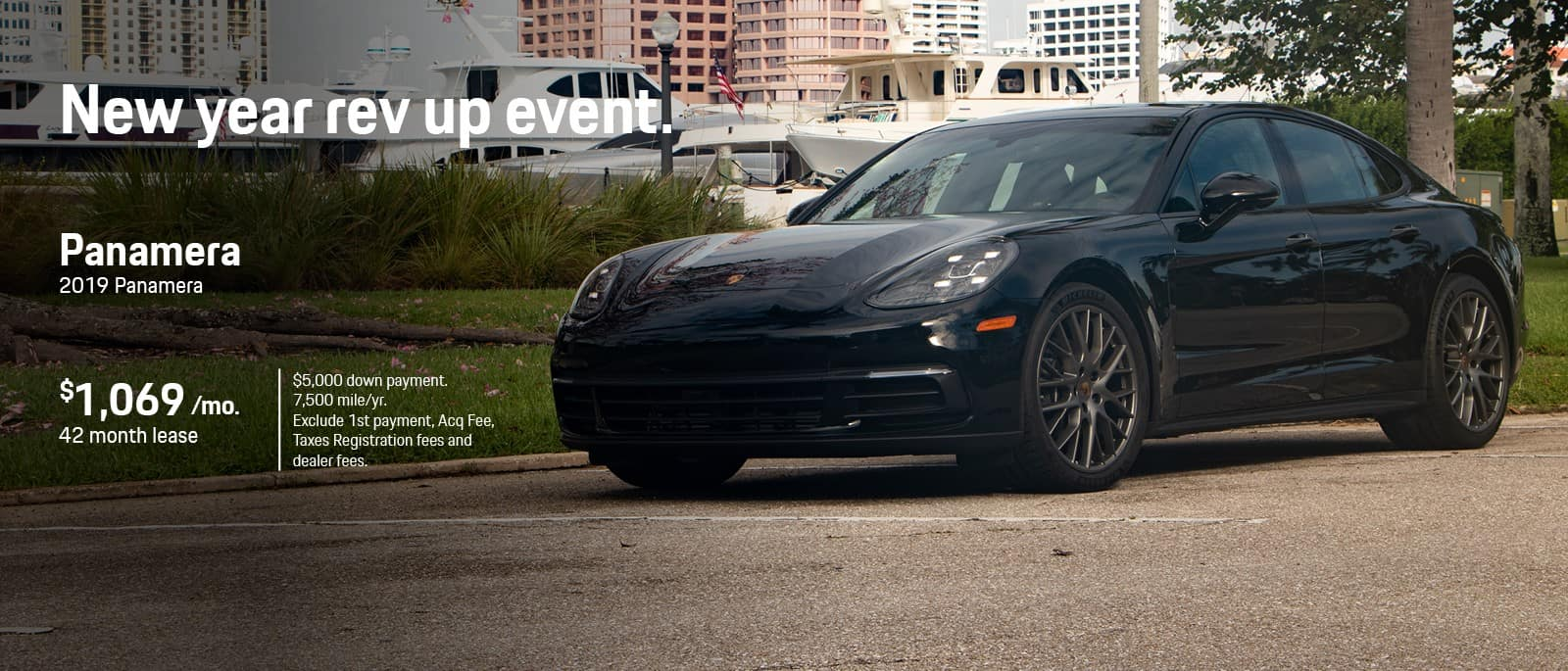 Porsche Panamera New Year Lease Special