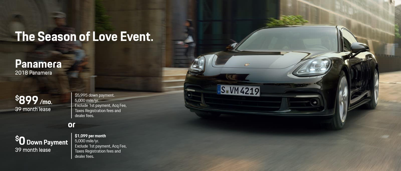 Porsche Panamera Season Of Love Sale