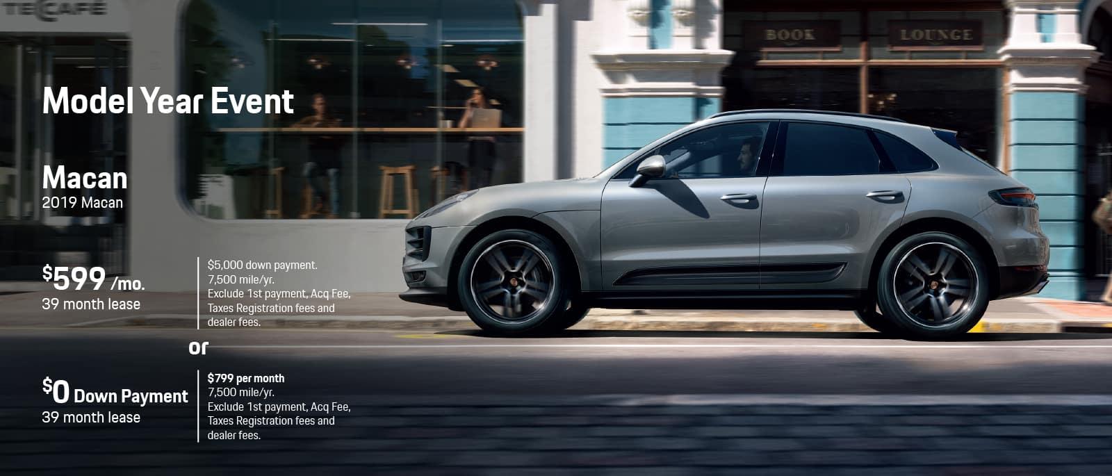 Porsche Macan Model Year End Lease