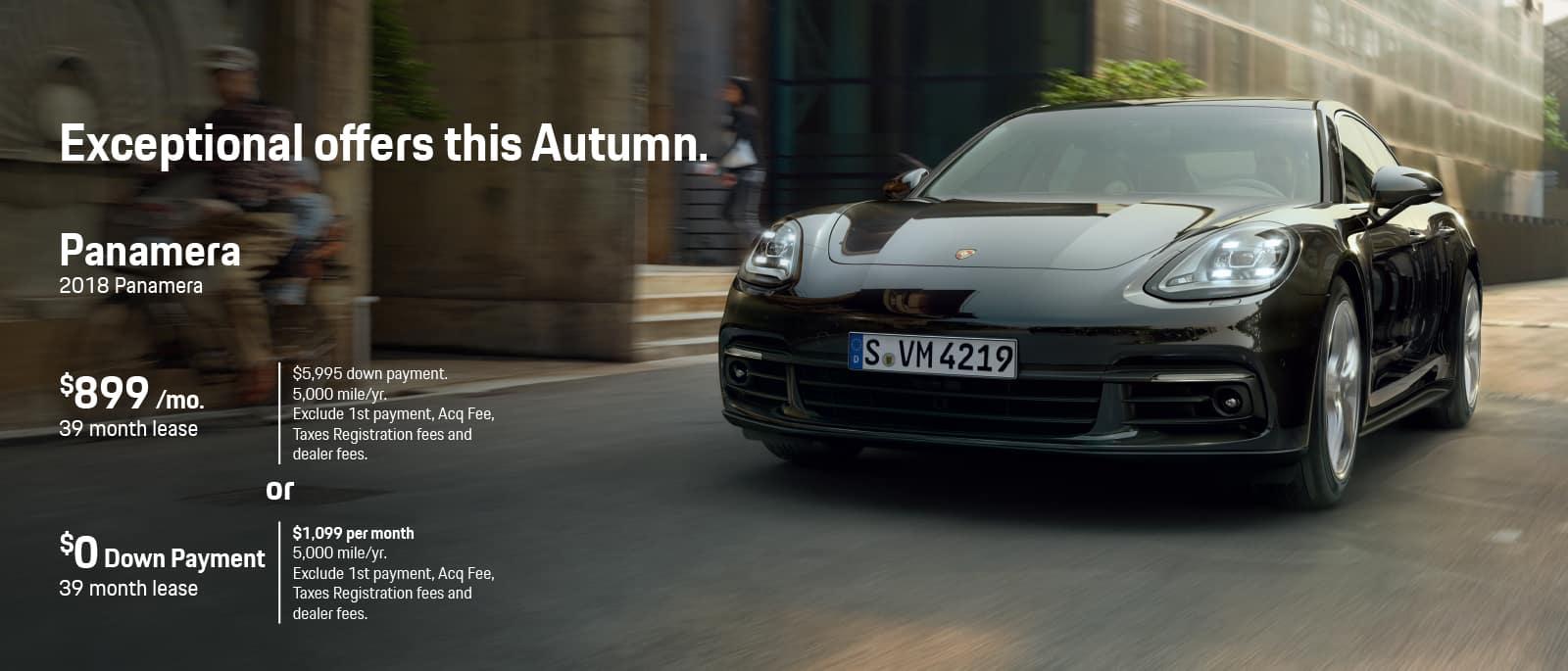 Porsche Panamera Lease Offer