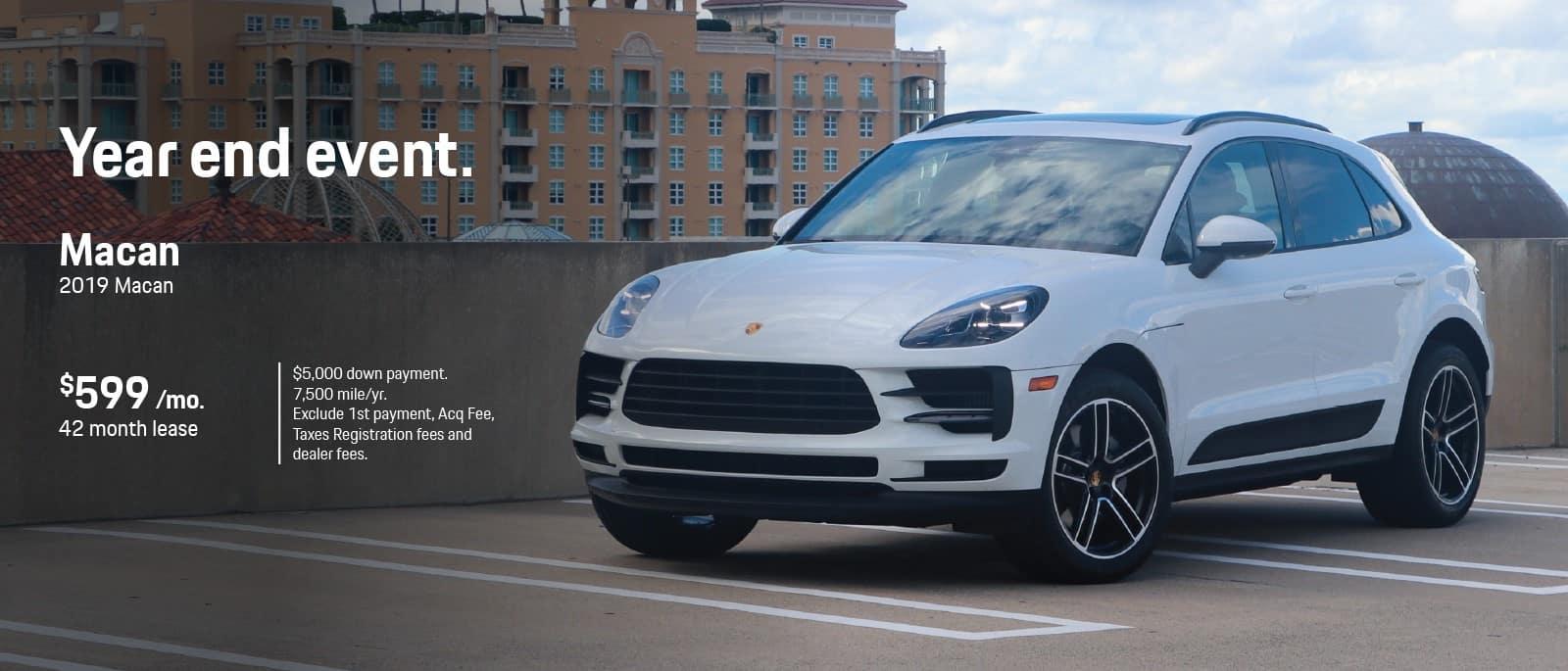 2019 Porsche Macan Lease