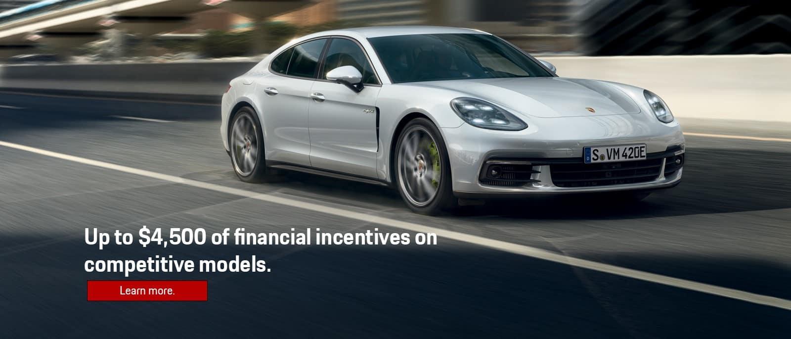 Porsche Competitive Models Financial Incentives