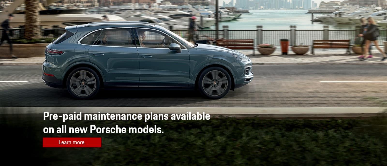 Porsche Pre-Paid Maintenance Plans