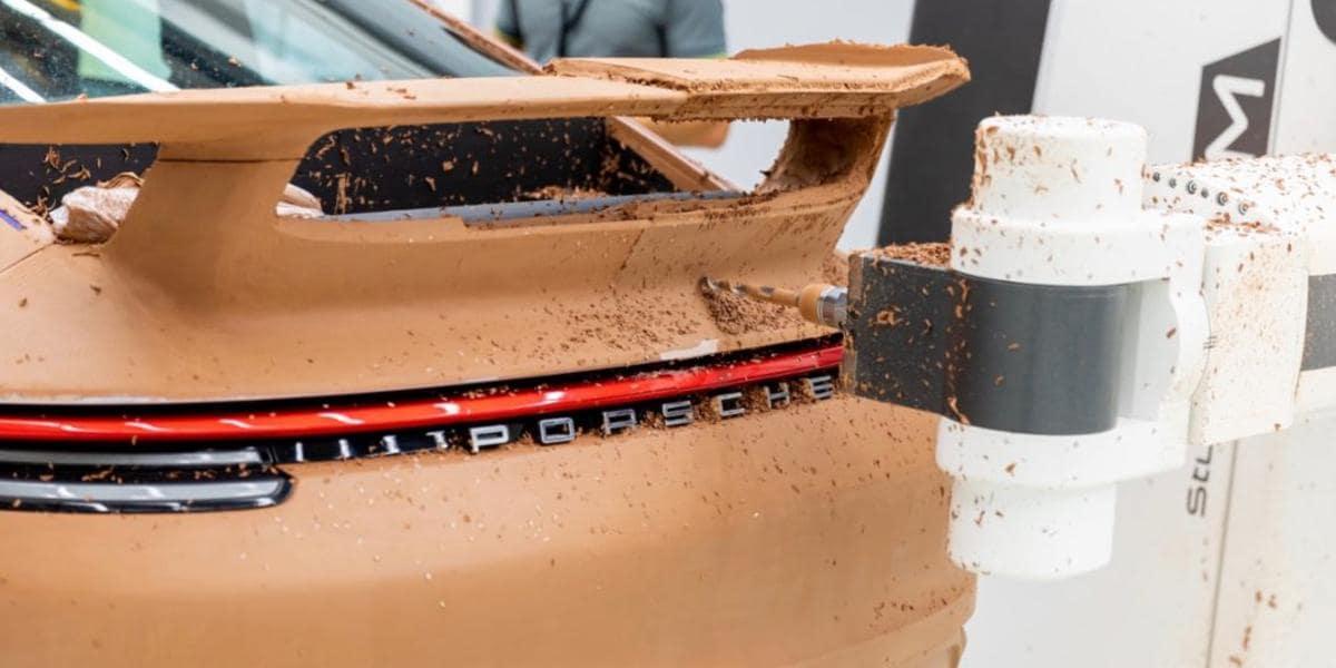 Testing of the new Porsche Aerokit on the 2021 Porsche 911 Turbo S