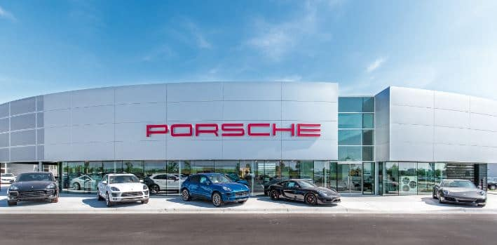 Porsche Wichita Grand Opening Entrance