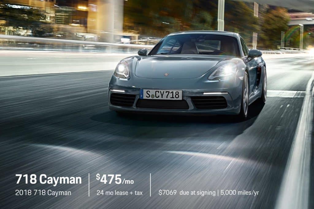 New 2018 Porsche 718 Cayman