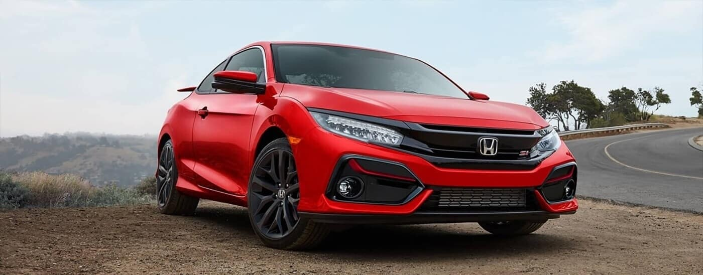 2020 Honda Civic driving down road