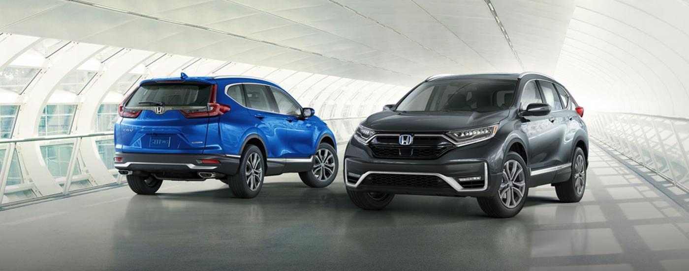 Two 2020 Honda CR-Vs crossing paths