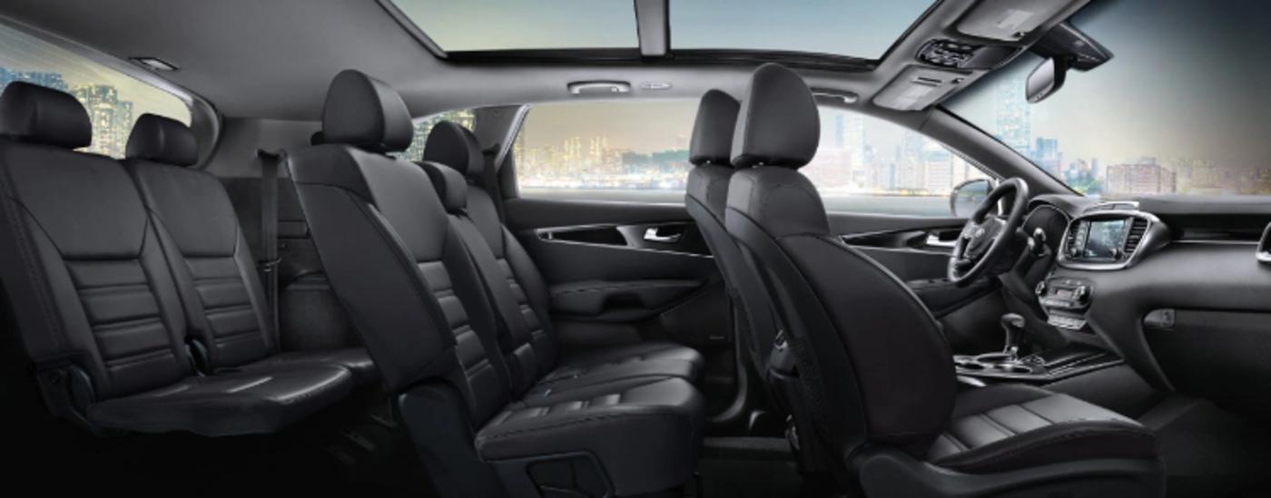 2020 Kia Sorento interior cross section