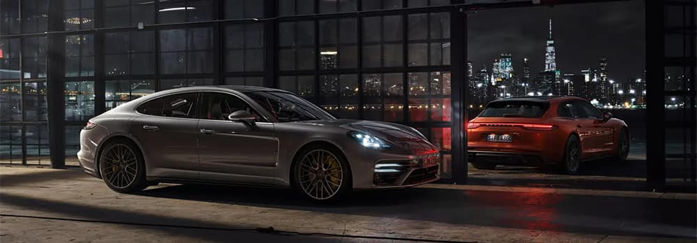 Porsche Panamera Models Parked