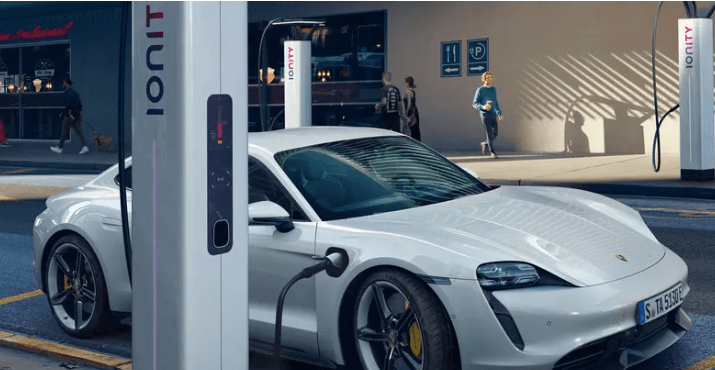 2020 Porsche Taycan charging
