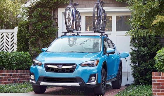 subaru with bike rack