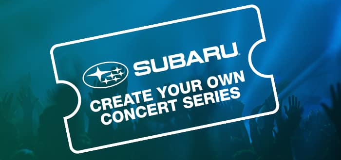 CREATE YOUR OWN CONCERT SERIES!