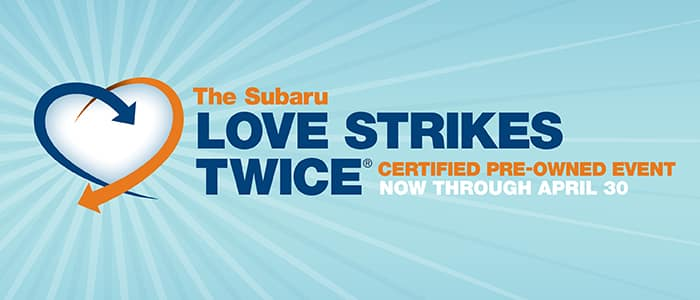 0.99% APR Financing on Subaru Certified Pre-Owned Vehicles