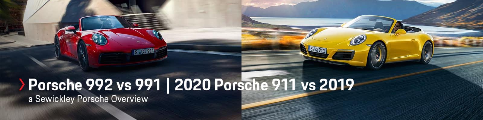 2020 Porsche 911 (992) vs 2019 Porsche 911 (991) at Sewickley Porsche